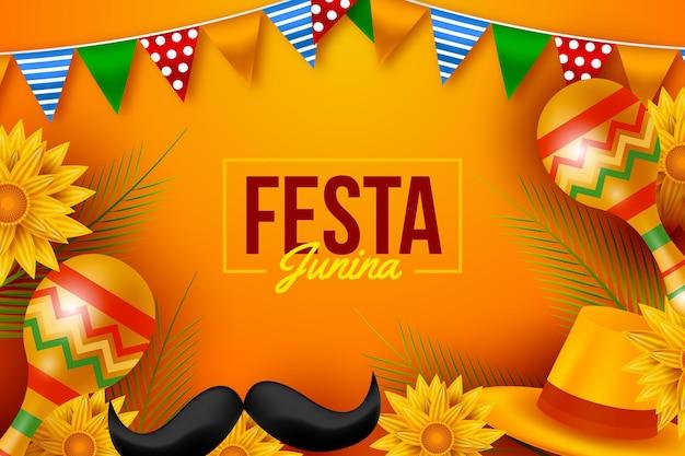 Realistic festa junina collection
