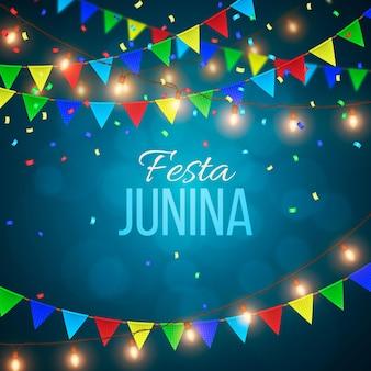 Realistic festa junina concept