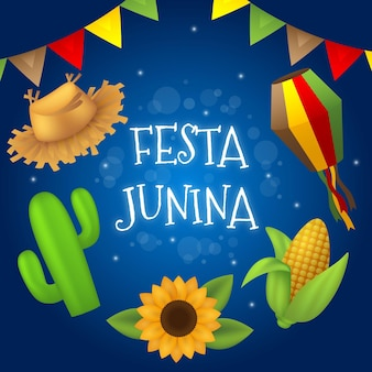 Реалистичная иллюстрация festa junina