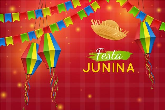 Realistic festa junina illustration