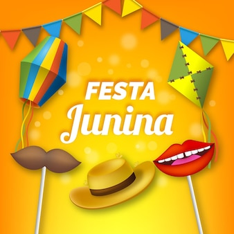 Realistic festa junina wallpaper