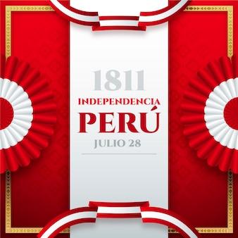 Illustrazione realistica di feste patrias de peru