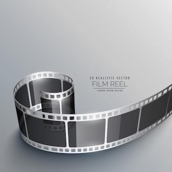Realistic film strip background