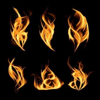Реалистичная коллекция огня