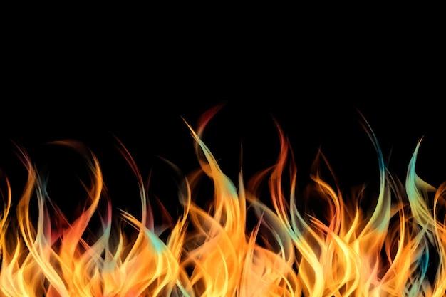 Реалистичный фон иллюстрации огня