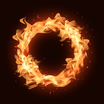 Realistic fire ring