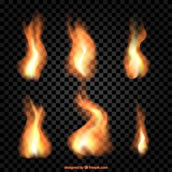 Реальные пламя устанавливается