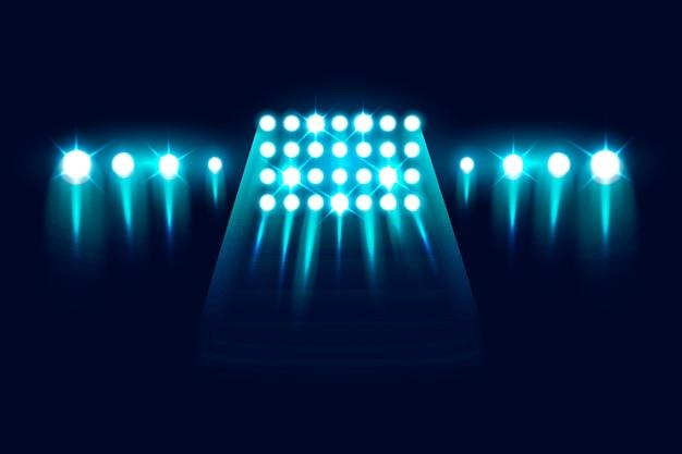 Realistic flashing stadium lights