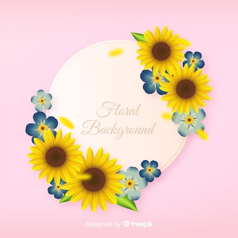 Realistic floral background