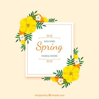 현실적인 꽃 프레임 환영 봄