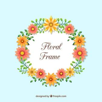 Реалистичная цветочная рамка