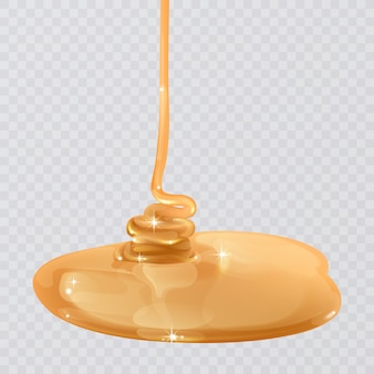 Realistic flowing honey texture