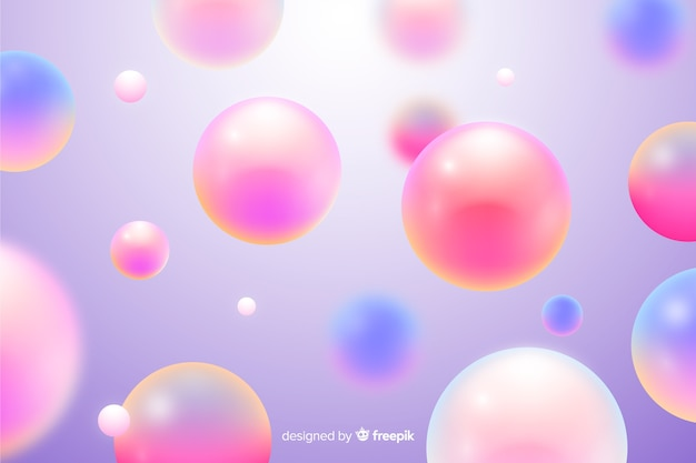 Realistic flowing pink balls background