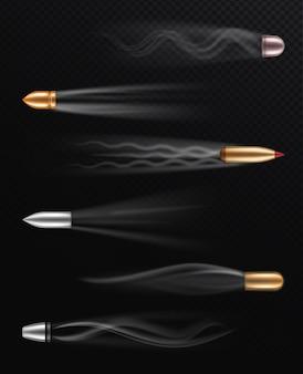 투명 배경에 현실적인 비행 총알