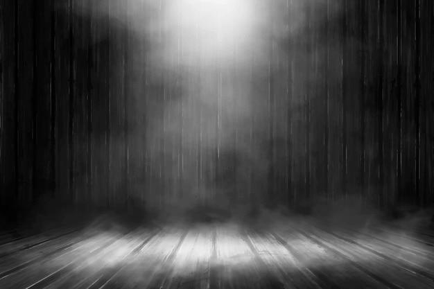 光のあるリアルな霧の背景