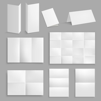 Realistic folding paper collection