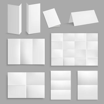 Коллекция реалистичных складных бумаг