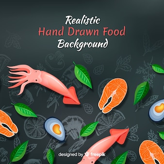Realistic food background