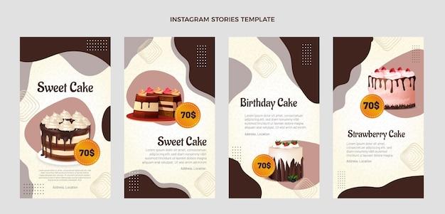 Realistic food instagram stories
