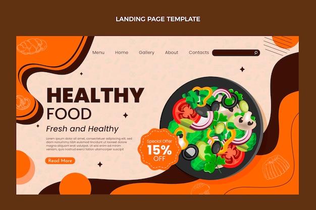 Modello di pagina di destinazione del cibo realistico