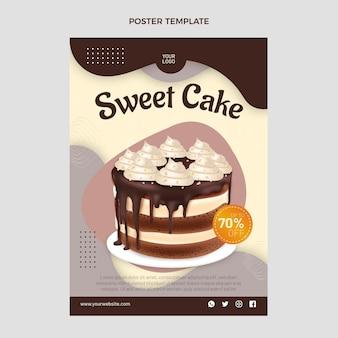Modello di poster di cibo realistico