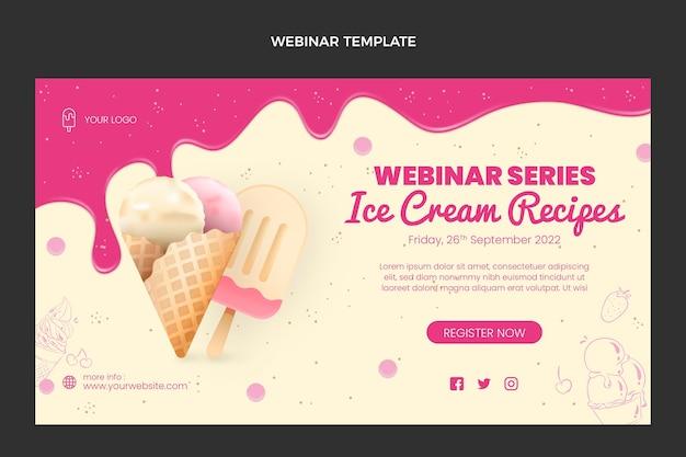 Realistic food webinar template