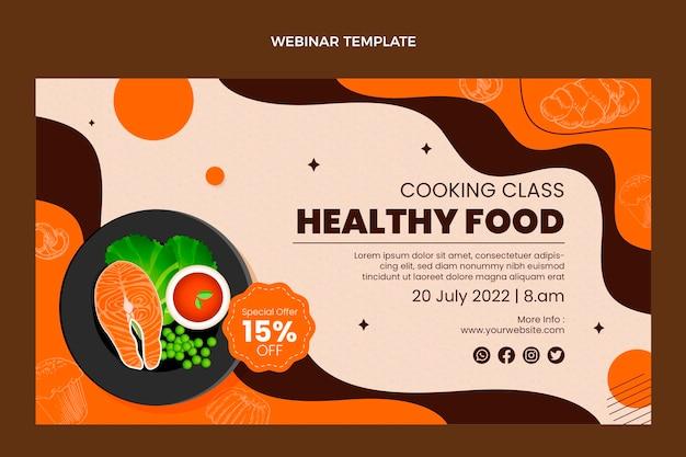 Modello realistico per webinar sul cibo