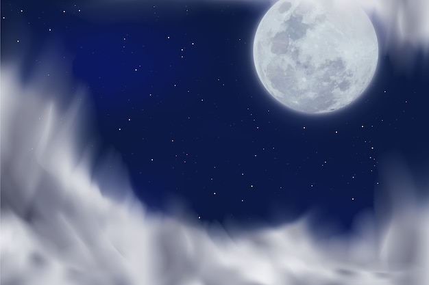Realistic fool moon background