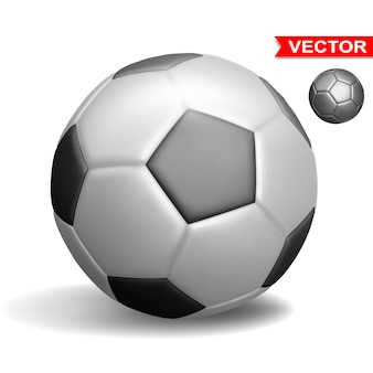 Realistic football soccer ball