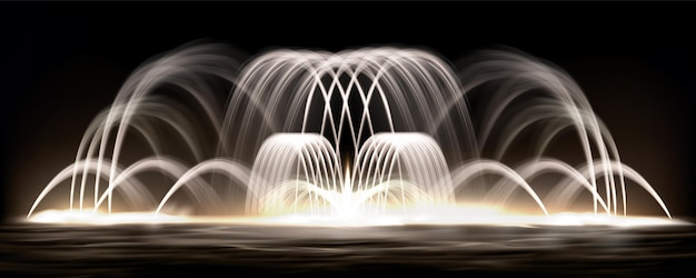 リアルな噴水の背景