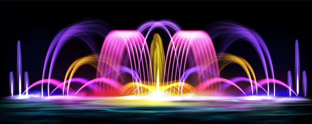 リアルな噴水のイラストの背景