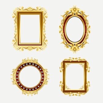Realistic frame collection in vintage style