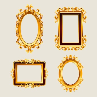 Realistic frame set in vintage style