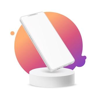 Реалистичный безрамочный смартфон с сенсорным экраном