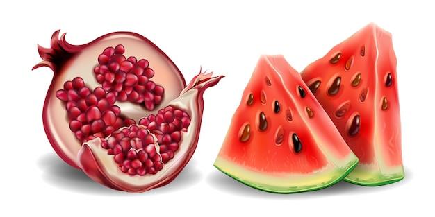 Realistic fresh in 3d illustration