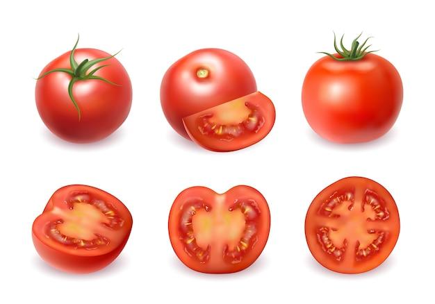 現実的な新鮮な赤いトマト