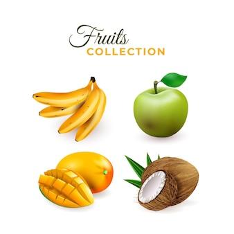 Реалистичная коллекция фруктов