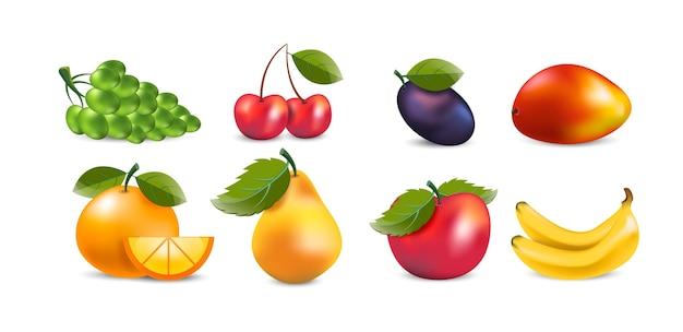 Raccolta di frutta realistica