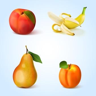 Raccolta di frutti realistici