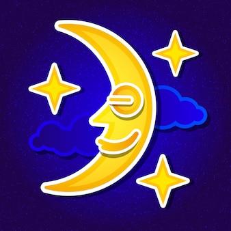 リアルな満月。詳細なベクトル図。 nasaによって提供されたこの画像の要素