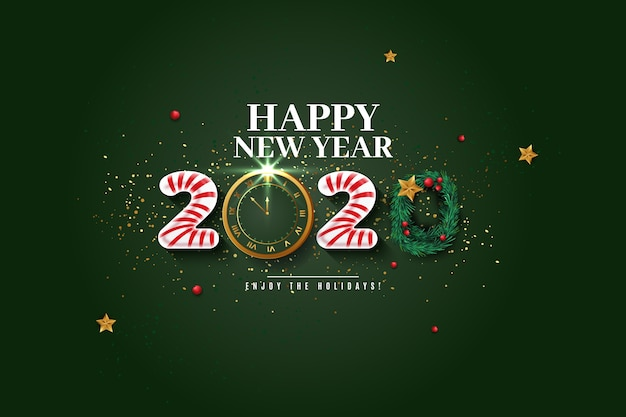 Realistic funny new year 2020 wallpaper