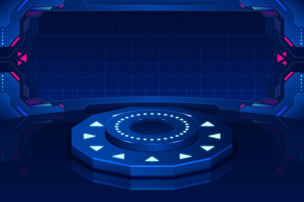 Realistic futuristic cyber monday background