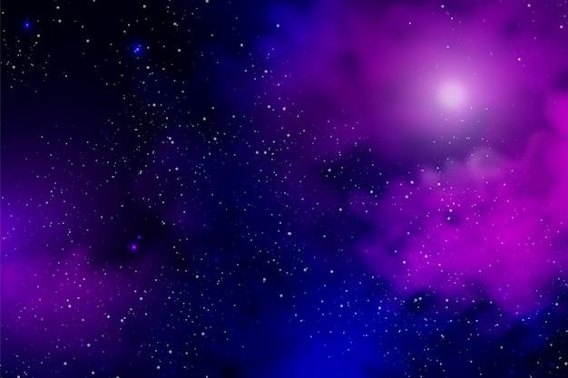 星と現実的な銀河の背景
