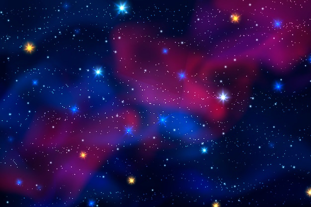 Realistic galaxy background