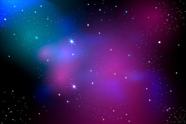 Реалистичный фон галактики