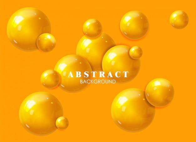 Реалистичная геометрическая форма сцены, желтый фон, минимальная изолированная форма, абстрактный, сфера иллюстрации