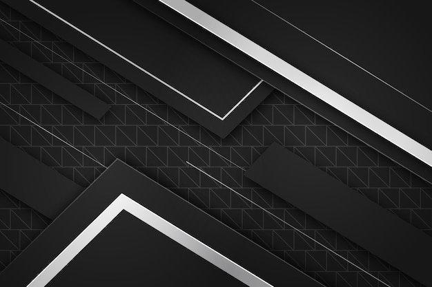 Realistic geometric shapes wallpaper