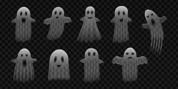 Реалистичная коллекция призраков