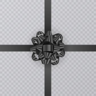 Реалистичный подарок черная лента