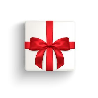 Реалистичная подарочная коробка декоративный подарок изолированных иллюстрация